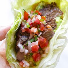 Grilled Steak Lettuce Tacos | Skinnytaste | Bloglovin'