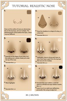Tutorial: realistic nose by ~cgart4u on deviantART