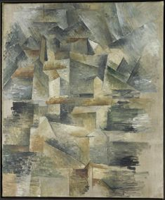 Les usines du Rio Tinto à l'Estaque, Georges Braque, 1910 © Centre Pompidou, Musée national d'art moderne