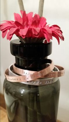 Selfmade bracelets, a personal gift