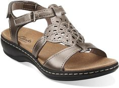 992bcefd2757 Leisa Taffy in Pewter Leather - Womens Sandals from Clarks