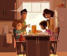 House illustration family Ideas for 2019 House Illustration, Children's Book Illustration, Character Illustration, Cartoon Art, Cute Art, Art For Kids, Character Art, Concept Art, Parents
