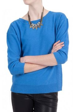 Liven up your sweater collection with the cashmere Weekend Crew by @INHABIT NY for $345.00 #sweaters #cashmere #inhabit