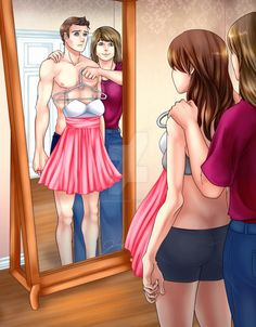 Mommy's Little Girl by sabishiidesu13.deviantart.com on @DeviantArt A parent who doesn't understand their child's gender identity and tries to make them conform.