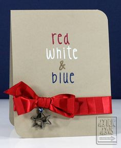 Red, White & Blue. Simple and lovely