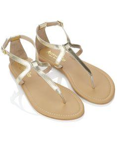 Zeus Cross Strap Sandals | Gold | Accessorize