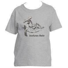 Ski Jackson Hole, Wyoming Vintage - Youth/Kid's T-Shirt