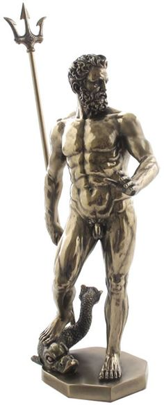 Poseidon God of the Sea Mythological Statue Figurine from the Greek and Roman Reproduction Sculpture Collection available at AllSculptures.com