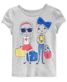 Epic Threads Little Girls' Traveling Girls T-Shirt, Only at Macy's