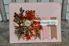 """Creative Scraps by Peggy Lee: """"Fall Inspired"""" Thank You Card & August 2014 Sketch & Dare Challenge"""
