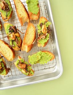 Geen Pea Toast with Cayenne Caramelized Onions and Garlic