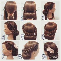 Pin by Kati Janelle on Hair stuff in 2019 | Pinterest | Hair, Braids and Hair styles Dance Hairstyles, Party Hairstyles, Messy Hairstyles, Pinterest Hair, Haar Make-up, College Hairstyles, Natural Hair Styles, Long Hair Styles, Wedding Braids