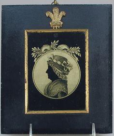 Portrait of a woman    Artist:Aug. Forberger (1762–1865)  Date:1795  Culture:French, Paris  Medium:Verre églomisé  Dimensions:4 1/2 × 3 1/2 in. (11.4 × 8.9 cm)  Classification:Glass-Painted