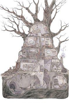 stimulusmachine: http://hchom.com/ marian churchland's illustrated representation of her apartment. Love it.