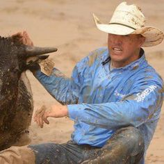 Why hello, Trevor Knowles. <3 Nothin' in the world like a steer wrestler.