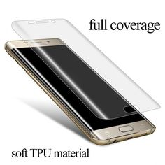 Full Coverage Screen Protector For Samsung Galaxy S7 edge S6 edge Plus TPU material anti-explosion with retail packing set