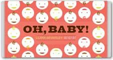 personalized baby candy wrappers #diy