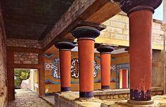 Sala de las Dobles Hachas, Palacio de Cnosos, Creta.
