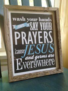 Jesus and Germs Print. $18.00, via Etsy.