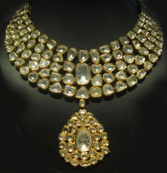 stunning Indian Kundan Polki necklace