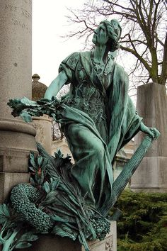 Pere Lachaise Cemetery, Paris, France by christopherlevy. One of my favorite places to go visit in the whole world.