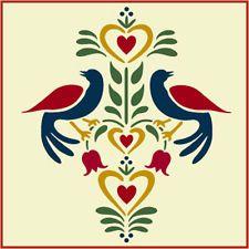 Folk Art Birds 2 Stencil- Distlefink - Fraktur- The Artful Stencil