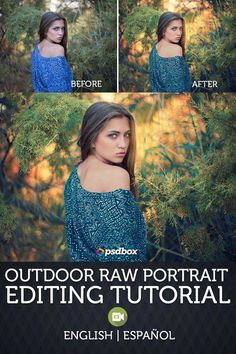 In this editing photoshop tutorial I will show you how to edit an outdoor raw portrait using adjustment layers. I will show you how to create a beautiful photo effect for your outdoor portrait photography. Outdoor Portrait Photography, Outdoor Portraits, Photography Lessons, Photography For Beginners, Photoshop Photography, Photography Tutorials, Digital Photography, Canon Photography, Iphone Photography