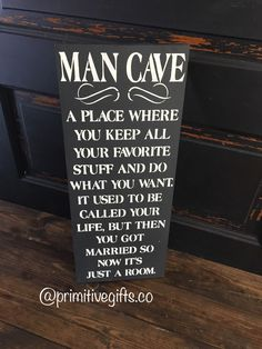 A personal favorite from my Etsy shop https://www.etsy.com/listing/514903049/man-cave-sign