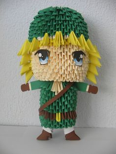 3D origami Link by my Girlfriend (without glue)