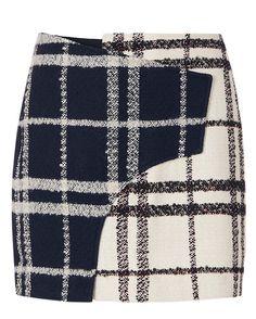 Derek Lam 10 Crosby EXCLUSIVE Mixed Plaid Mini Skirt