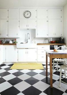Vinil checkboard kitchen