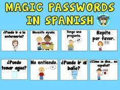 Magic Passwords in Spanish {Freebie}