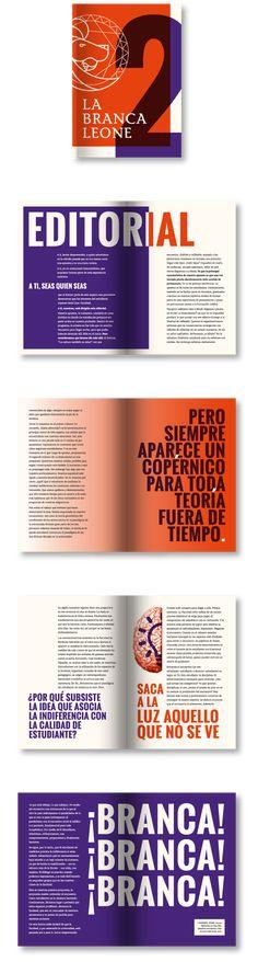 La Brancaleone layout magazine designed by ôntico.lab. graphic design layout