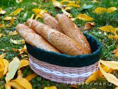 Pšeničné rohlíky se lněným semínkem/VYZKOUŠENO Pavlova, Carrots, Sausage, Banana, Bread, Fruit, Vegetables, Food, Sausages