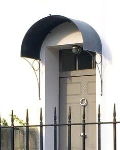 Over Door Porches - Door Canopy Designs - Metal Planters                                                                                                                                                                                 More