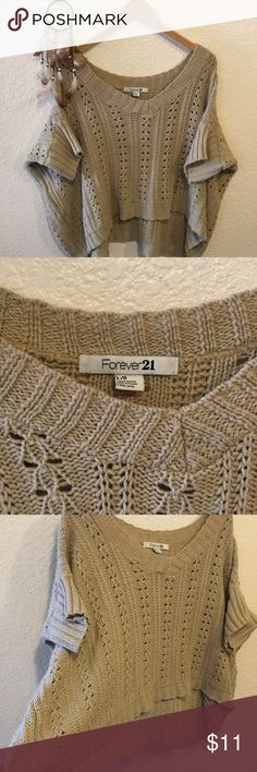 Forever 21 over-sized knit Sweater ✨Size large, but feels more like a XL. Really over sized. Forever 21 Tops Sweatshirts & Hoodies