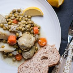 Artichoke heart and peas