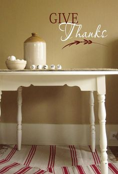 """""""In All Things Give Thanks""""- sign for kitchen"""