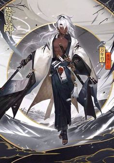 Game Character, Character Concept, Concept Art, Manga Characters, Fantasy Characters, Fantasy Samurai, Manga Covers, Fantasy Character Design, Character Portraits