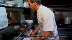 Gordan Ramsey saves your restaurant. At least thank him. Gordon Ramsay Funny, Chef Gordon Ramsey, Idiot Sandwich, Kitchen Nightmares, All Restaurants, Reality Tv, Reaction Pictures, Feel Better, A Table