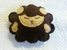 Handmade sheep for a mobile for baby or kids rooms.