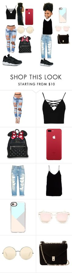 """""""me and my lil sis twin a little"""" by iamyounglashay1 ❤ liked on Polyvore featuring Boohoo, Theory, Casetify, Quay, Victoria Beckham, Valentino and NIKE"""