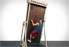 How cool is this? Treadwall is the perfect workout and training aid for climbers, it combines the climbing wall with the treadmill! It basically puts a rock wall in motion allowing you to climb as much as you want. Both speed and wall angle are adjustable, letting the user set the pace and level of difficulty.