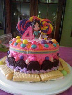 Abbey's 4th Birthday Sugar Rush Wreck It Ralph Cake!