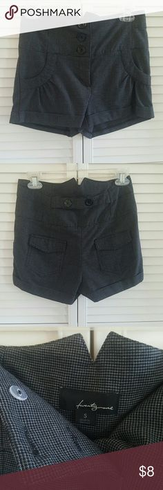 High Waisted Shorts Black and Gray mini plaid design Forever 21 Shorts