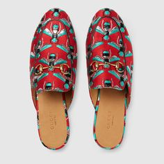 Gucci Women - Princetown Bee Jacquard Gucci Slippers - $595.00