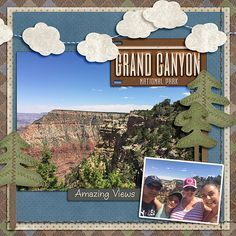 Image result for grand canyon scrapbook layouts #vacationscrapbook