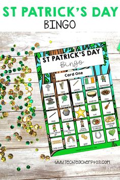 Develop your students' vocabulary with this fun St Patrick's Day bingo game. Use as a traditional bi Primary School Curriculum, Primary Classroom, St Patrick's Day Crafts, Vocabulary Activities, Australian Curriculum, St Patricks Day, St Pattys, Bingo Cards, Calling Cards