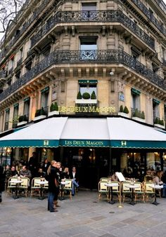 Les Deux Magots, Paris. The most unbelievable hot chocolat I've ever had. Perfect treat on a windy, cold day.