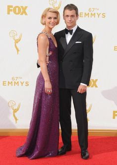 Claire Danes en robe Prada et escarpins Jimmy Choo accompagnée de Hugh Dancy